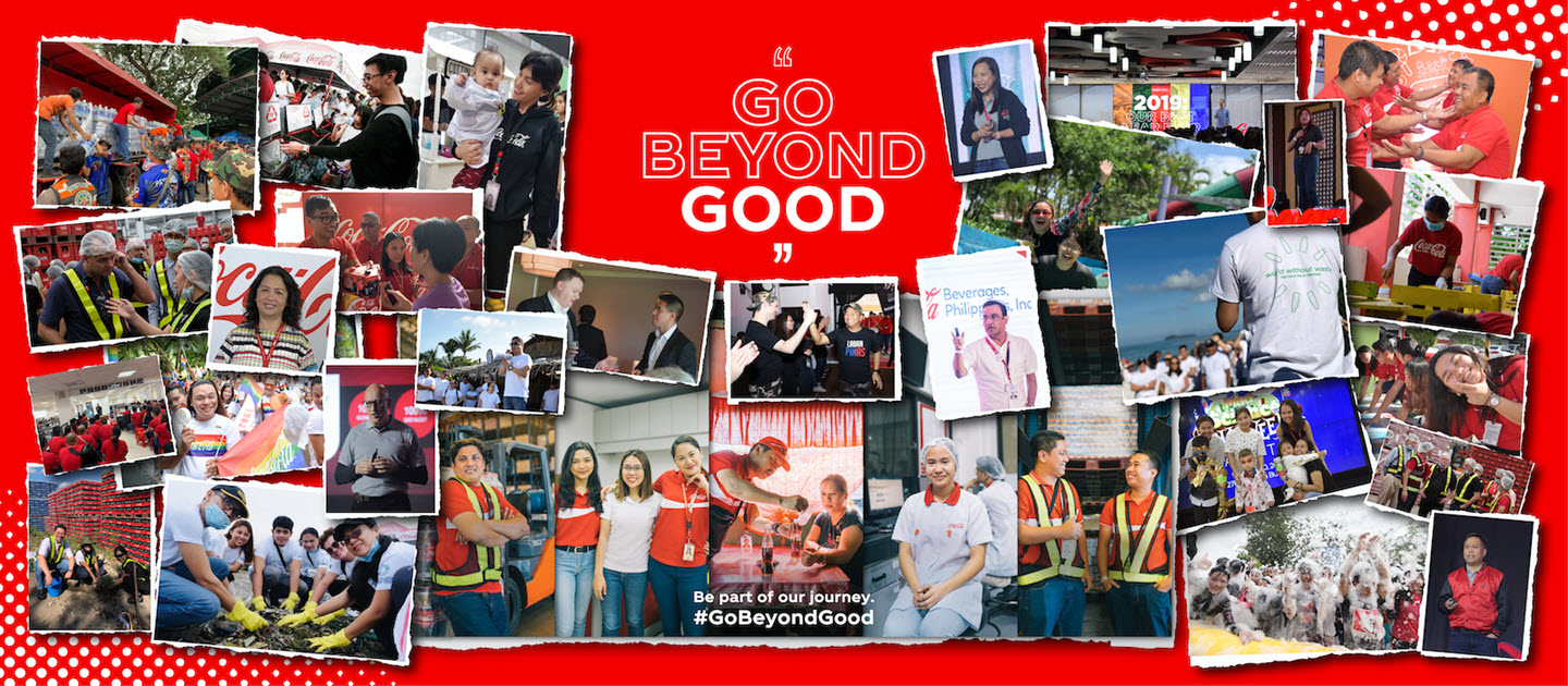 Go Beyond Good - image shows happy employees working