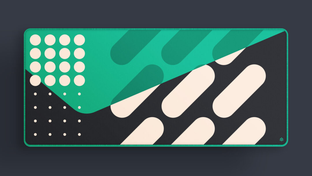 Shapes Deskmat in Green, By Archetype