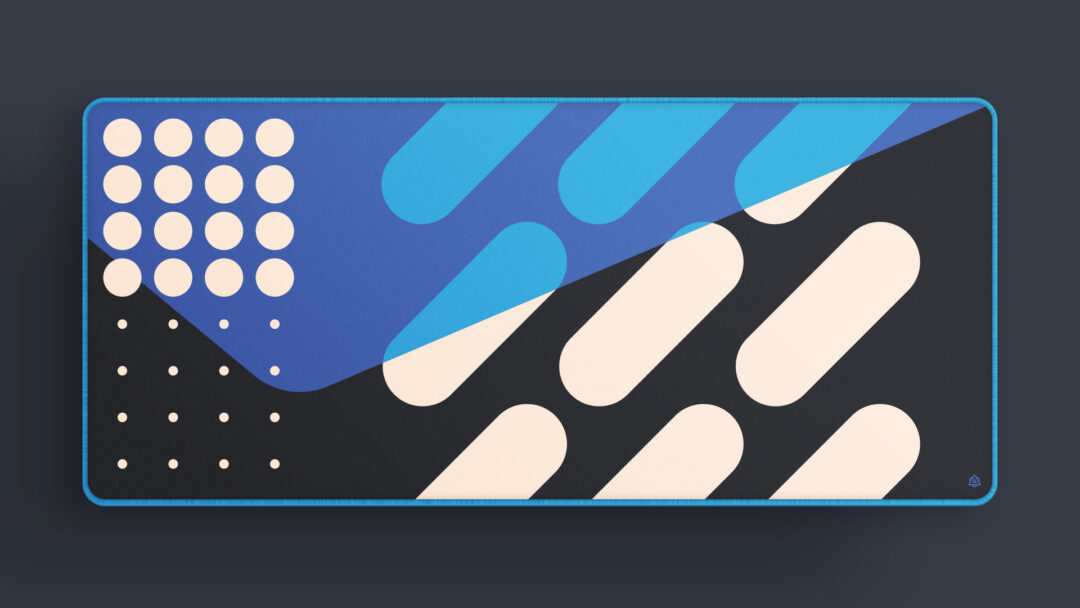 Shapes Deskmat in Blue, By Archetype