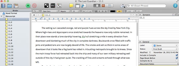 Scrivener: A Program to Write With