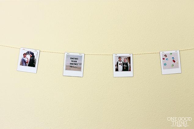 DIY Polaroid Banner
