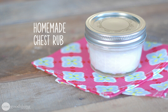 Homemade Chest Rub