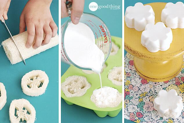 DIY Exfoliating Loofah Soap