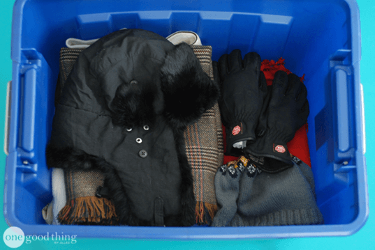 Storing Winter Clothes