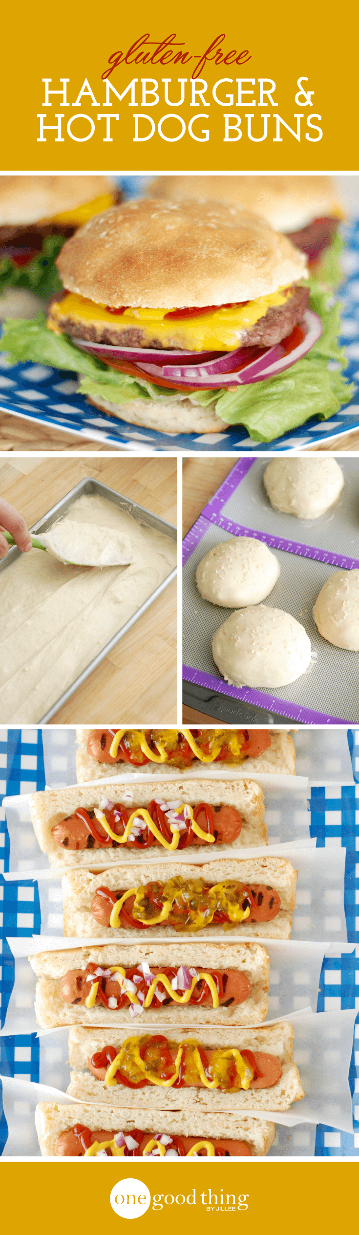 Gluten-Free Hamburger and Hot Dog Buns