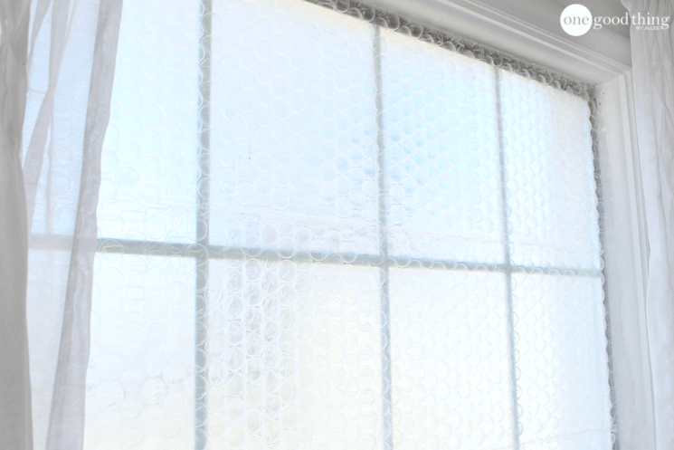 Insulate Drafty Windows With Bubble Wrap
