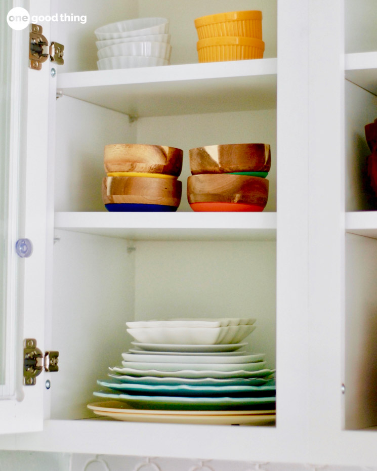 cabinet of dishes