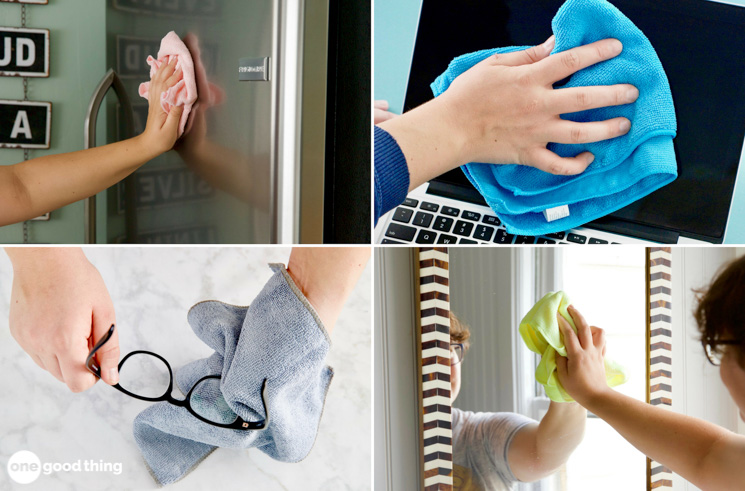 cleaning with microfiber