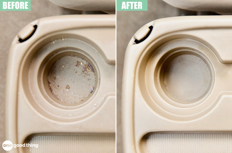 cup holder cleaning hack