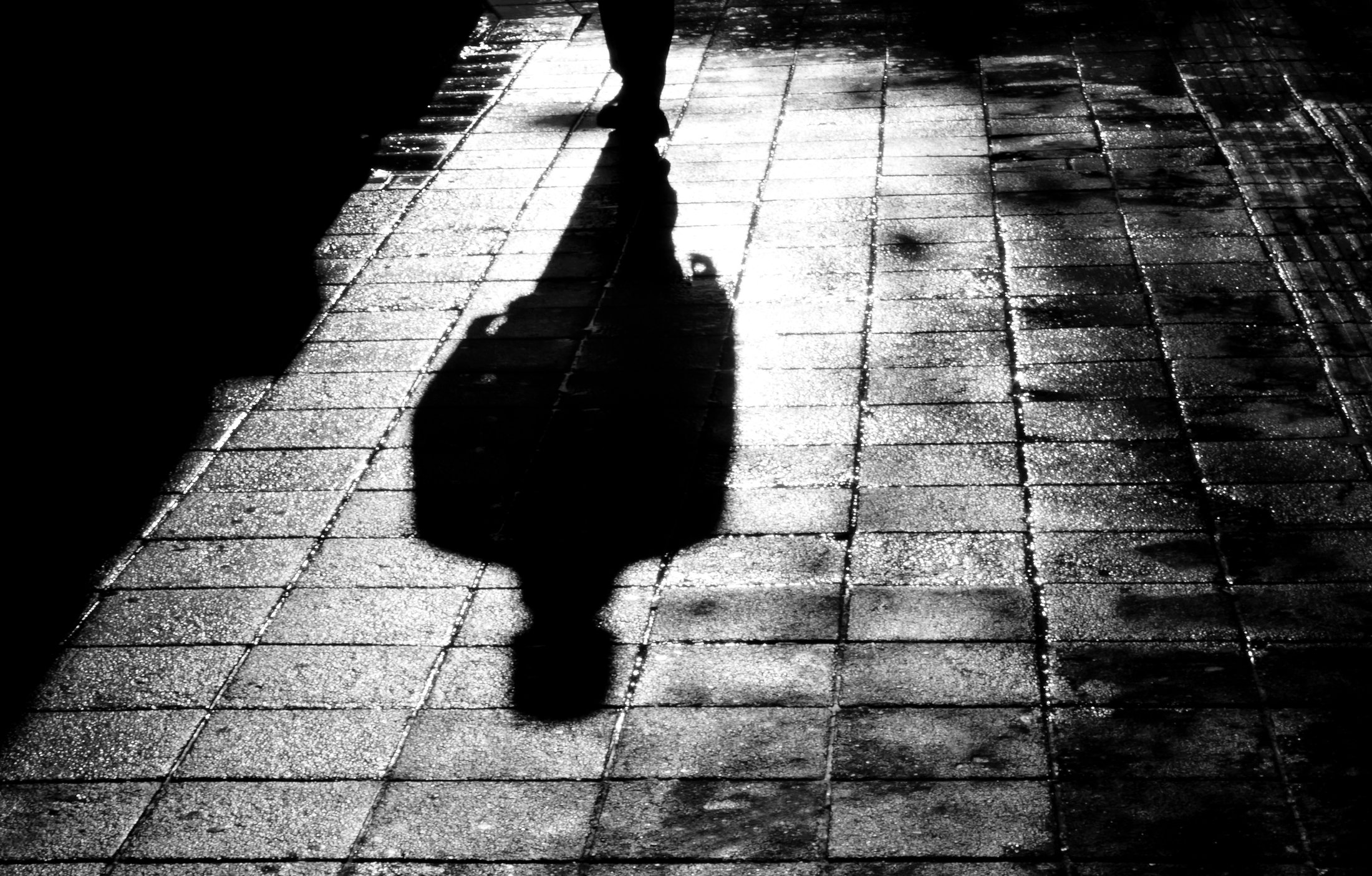 Shadow man silhouette full