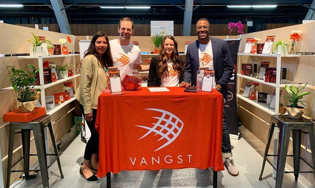 Vangst team event booth