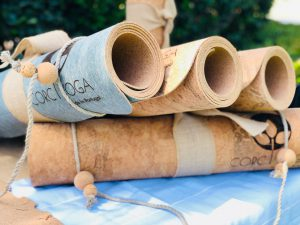 four-corc-toga-mats-cork-yoga-mats-yoga-mats-rolled-and-stacked