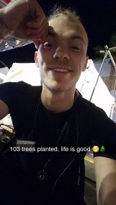 etching-bee-founder-ben-bruzik-announcing-103-trees-planted