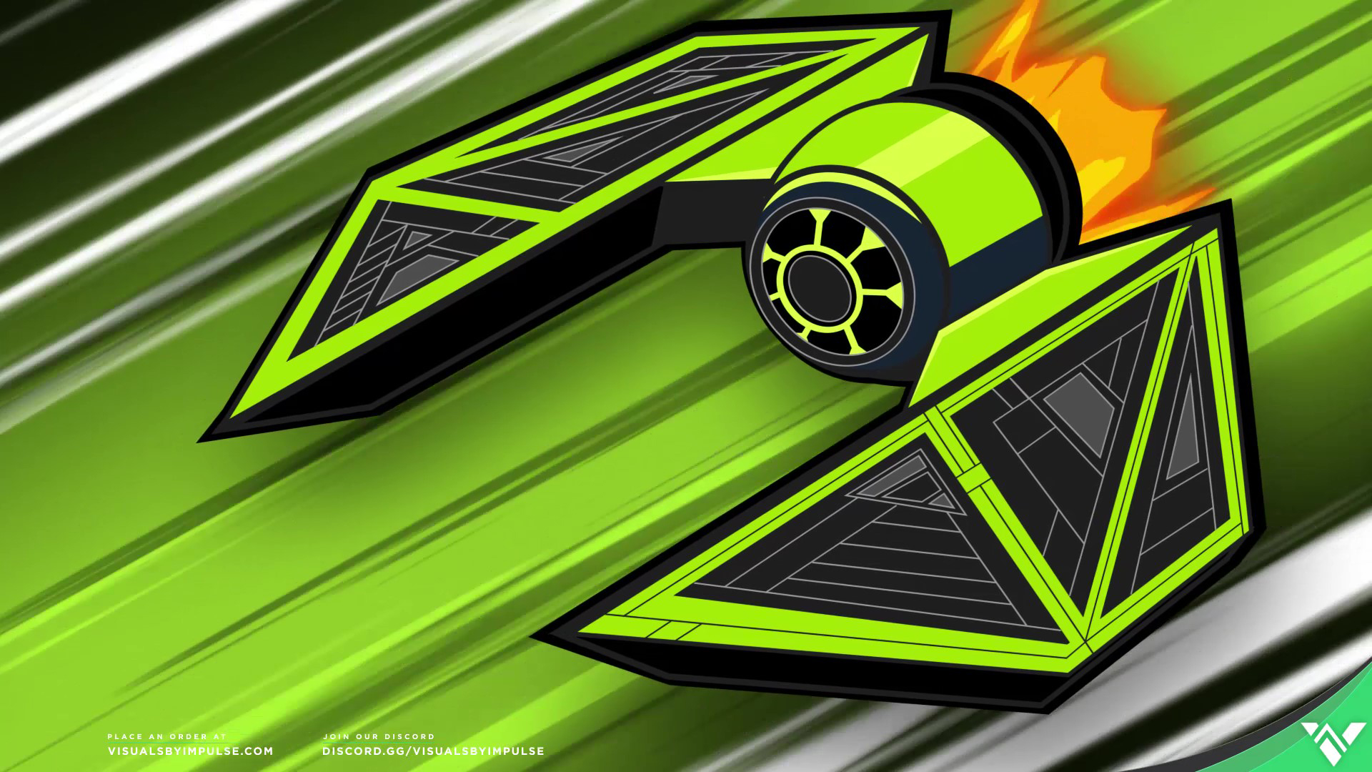 Flying Space Ship in Green fast