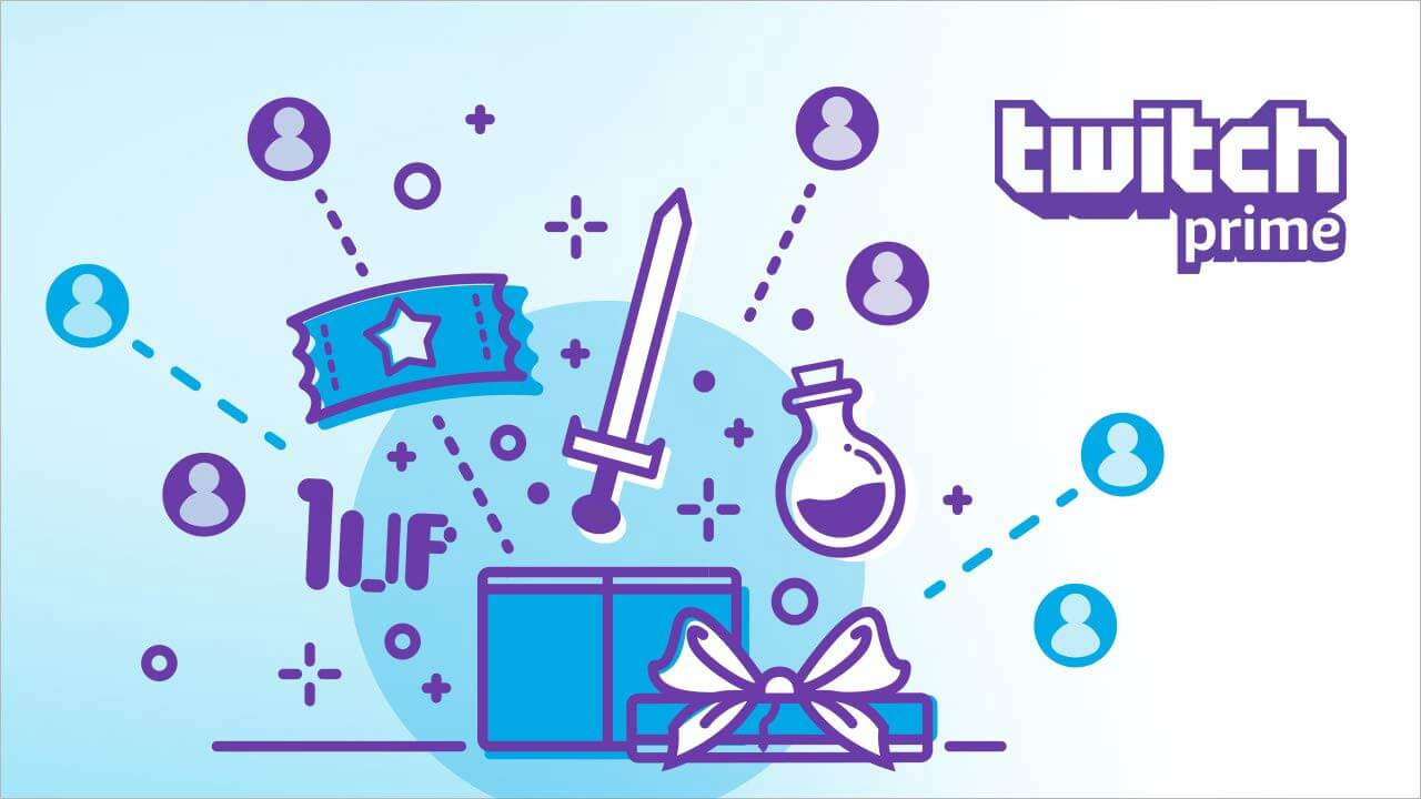 twitch prime subscription lootbox showing prizes inside