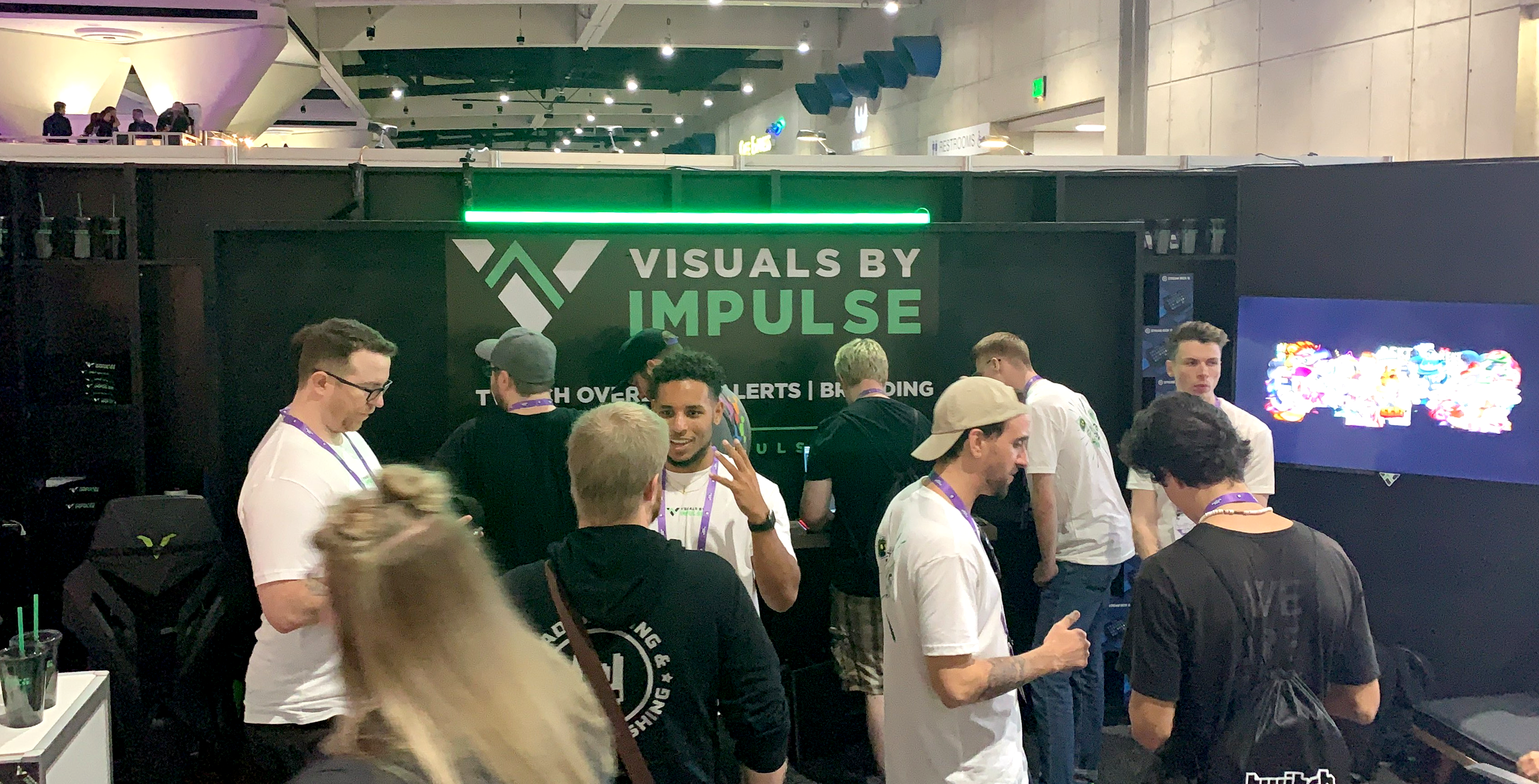 vbi booth and employees chatting with customers at twitchcon 2019