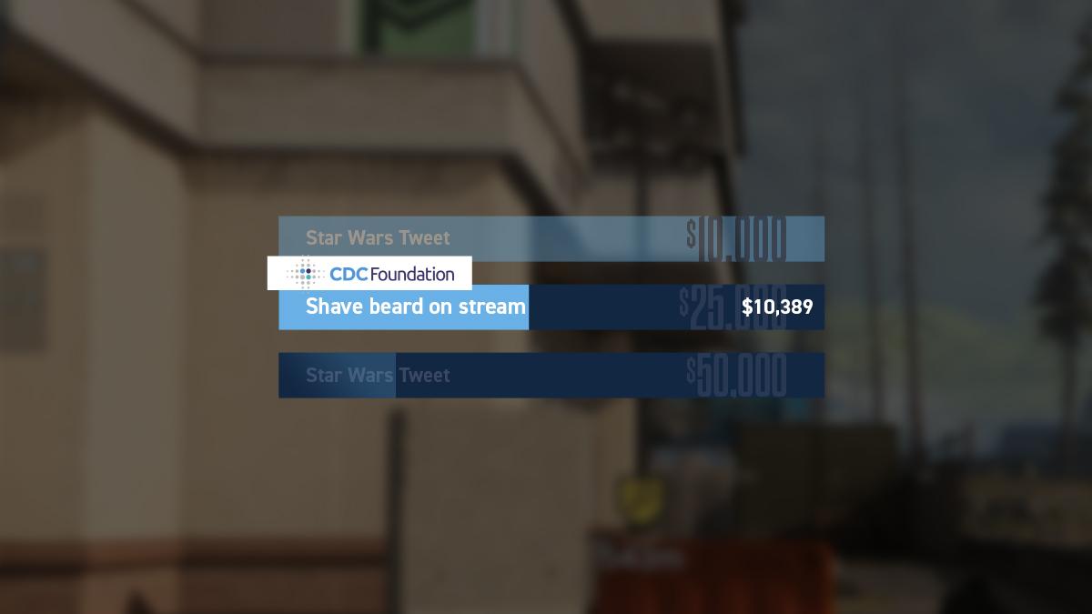 CouRage Charity Stream Custom Goal Widget