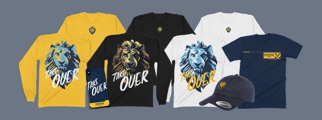 CouRage Season 1 Merch Line Lion Shirts