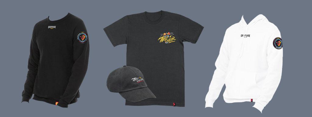 CouRage Season 2 Merch line tshirts hats and shirts