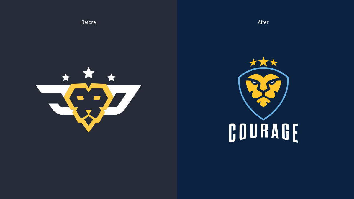 CouRage Logos Before and After
