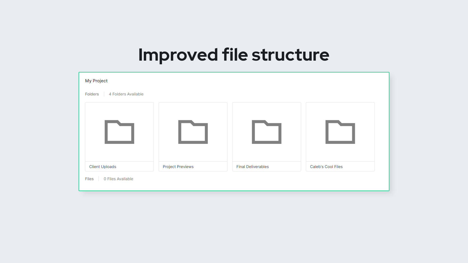 Improved file structure