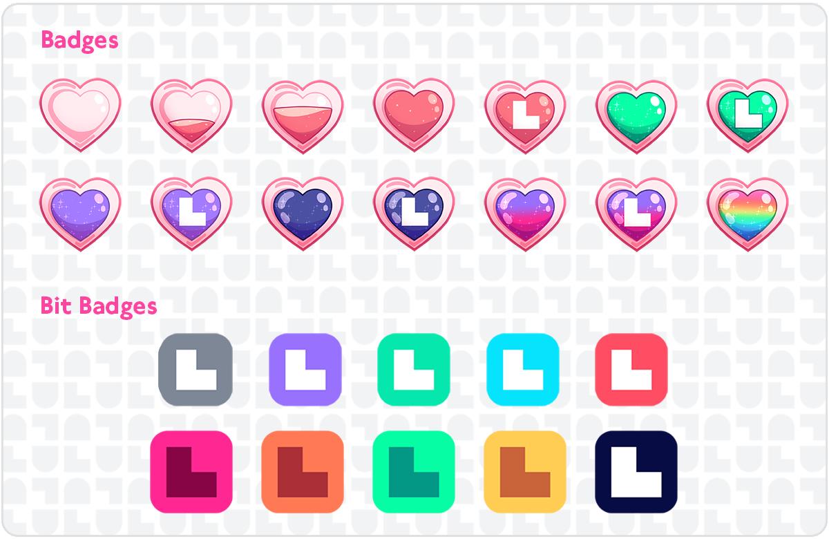 LuluLuvely sub badges and bit badges
