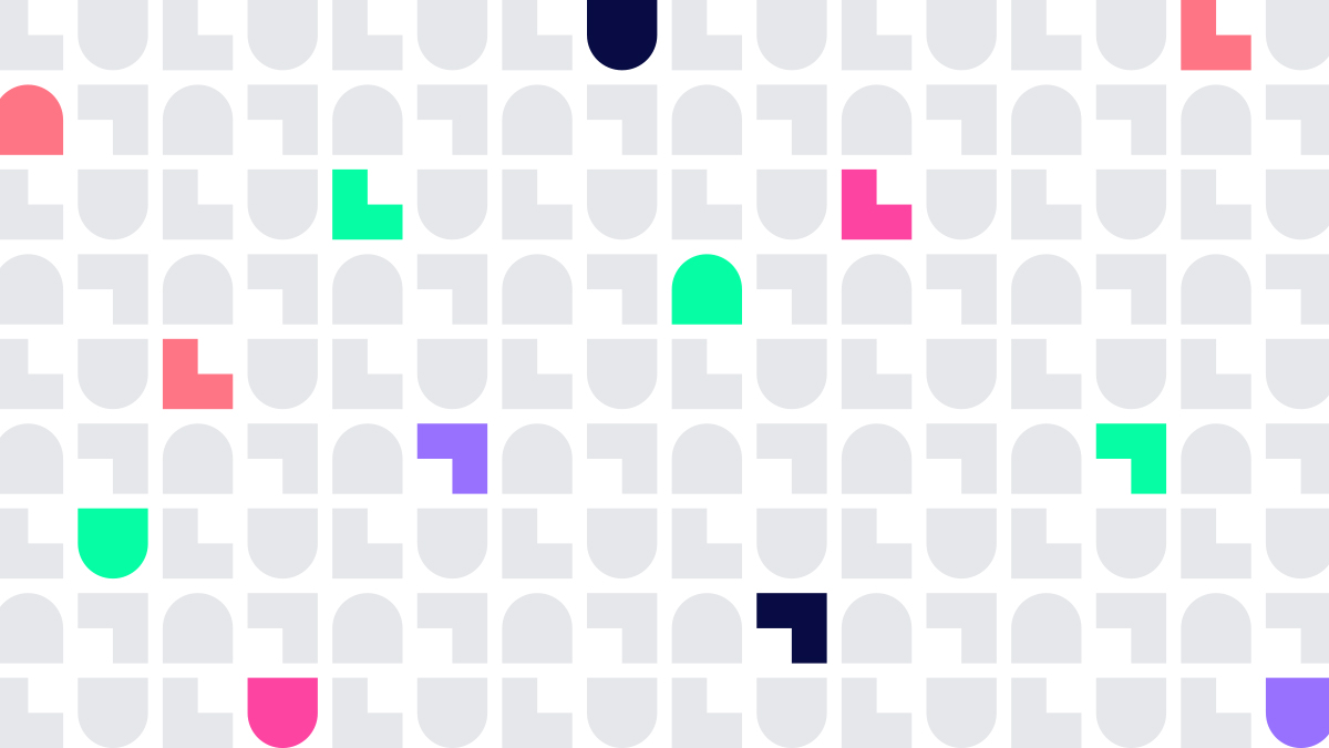 LuluLuvely background pattern with some colored bubble letters