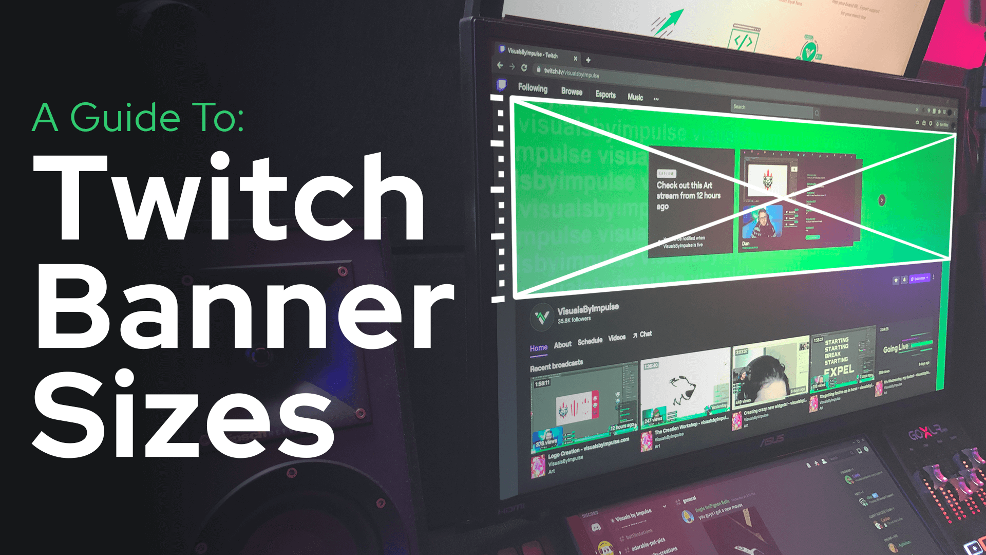 A guide to twitch banner sizes