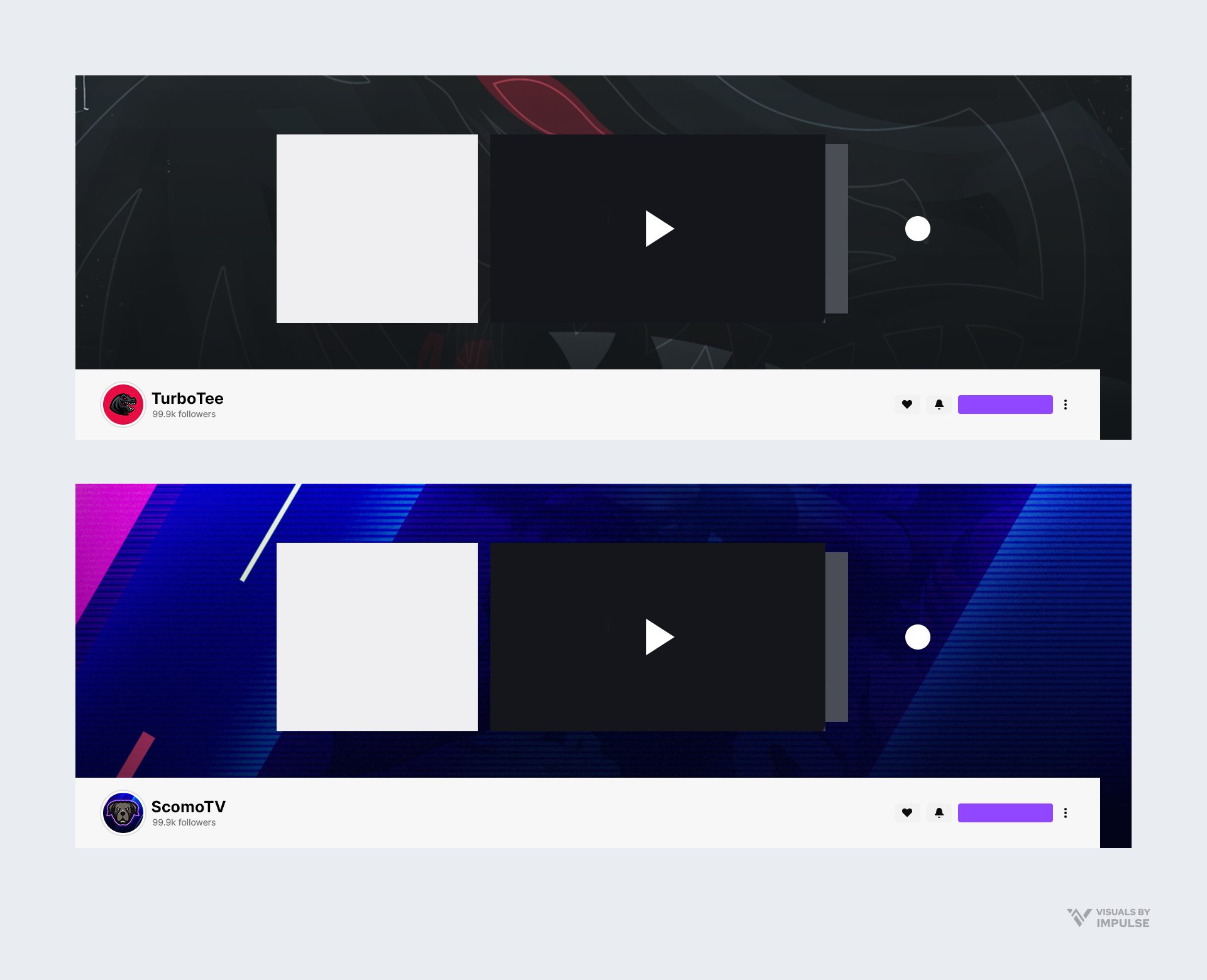two example twitch profile banners