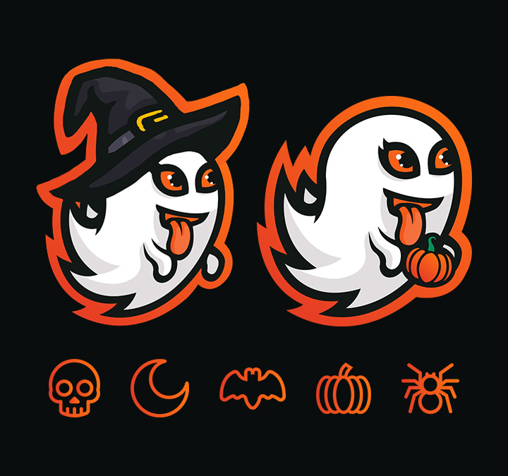 Halloween Logo Additions and Icons