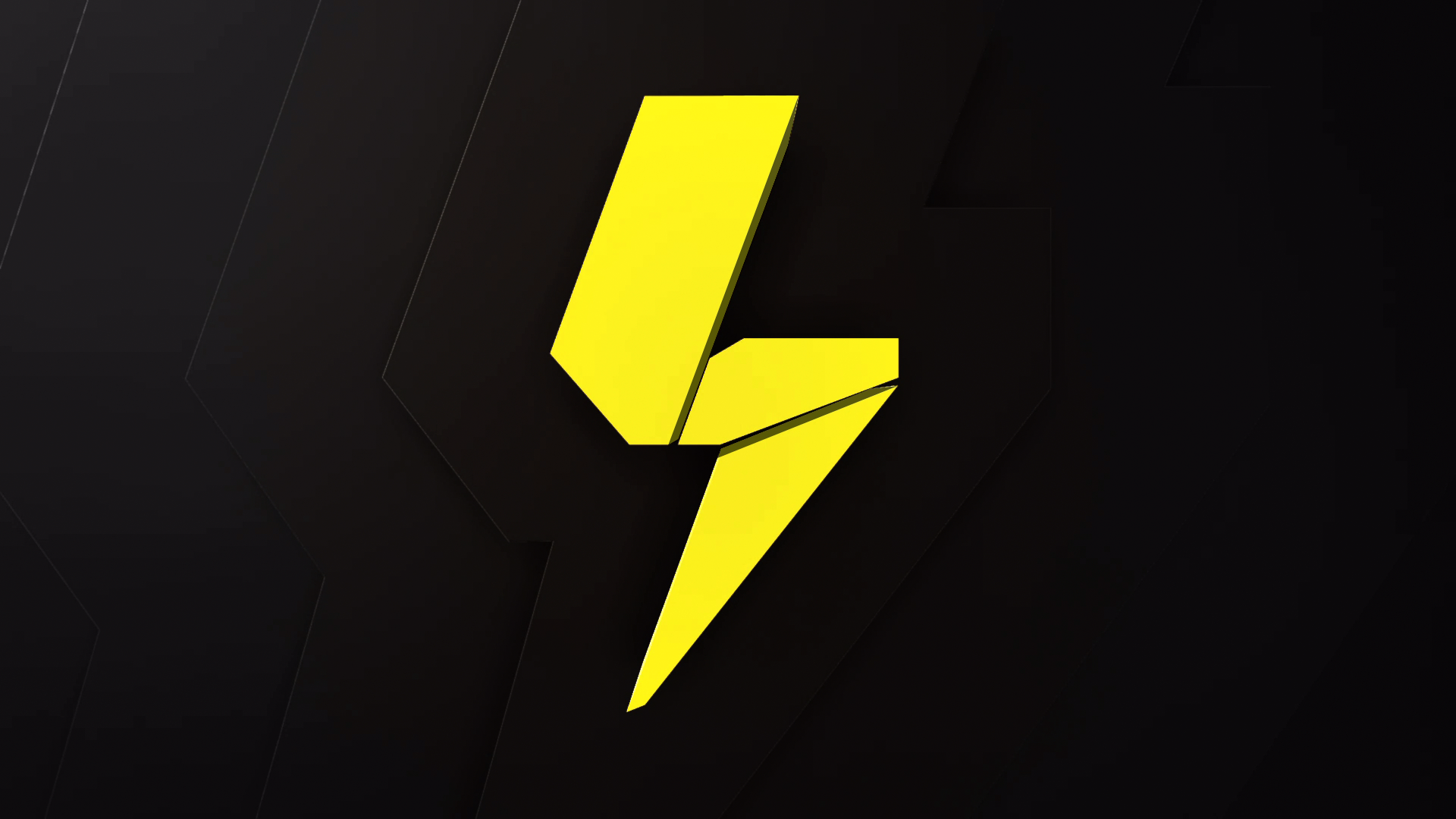 Lachlan yellow lightning bolt over black background