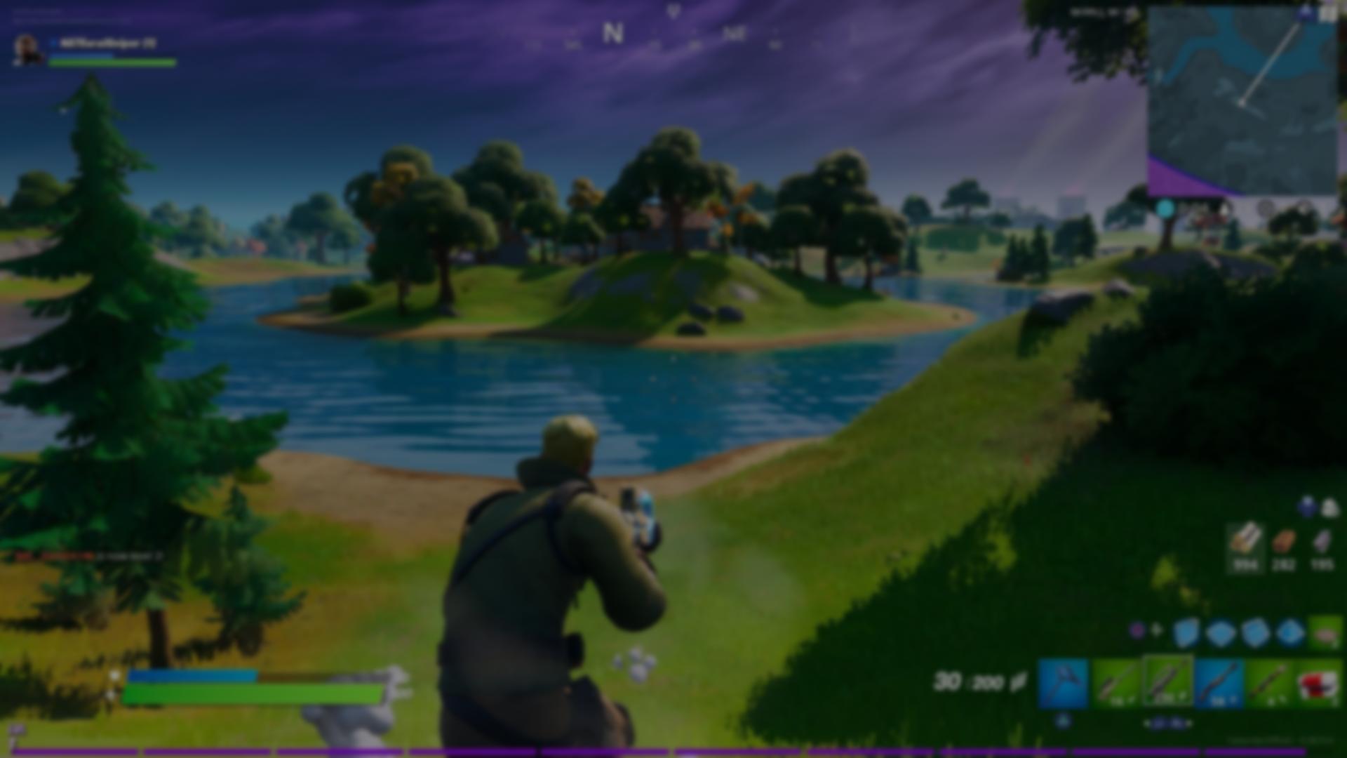 Fortnite gameplay background