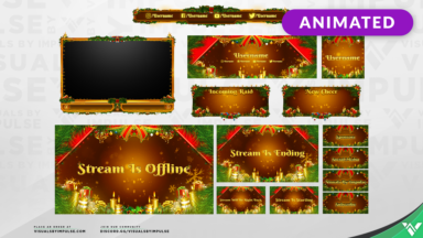 5 Golden Rings Christmas Stream Package - Visuals by Impulse