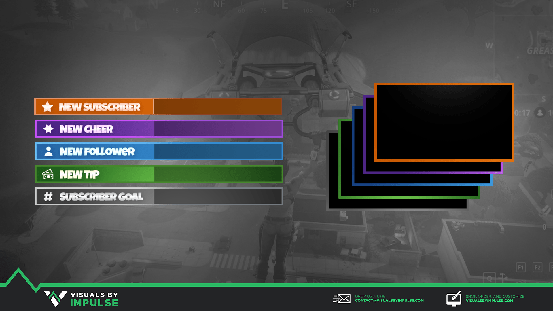 Animated Fortnite Stream Package - Visuals by Impulse