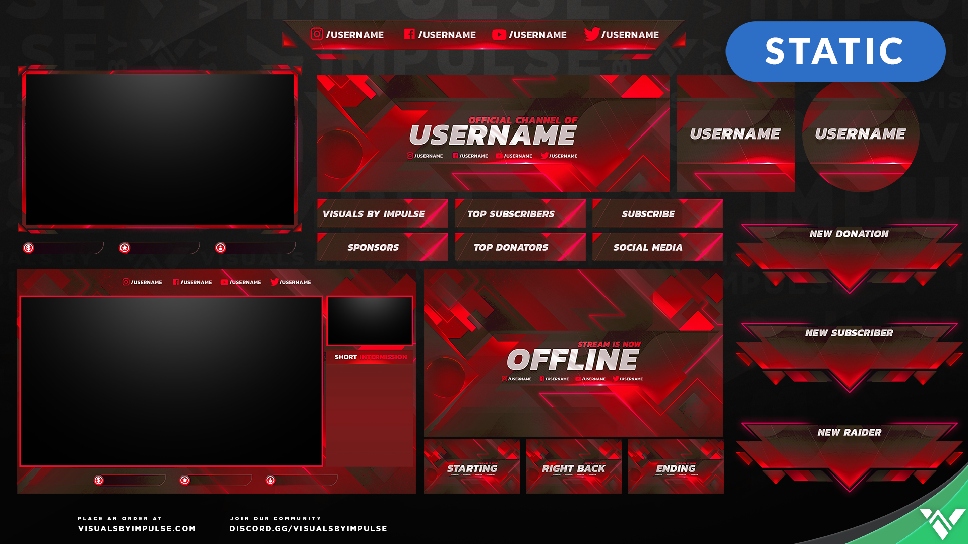 Ascension Stream Package - Visuals by Impulse