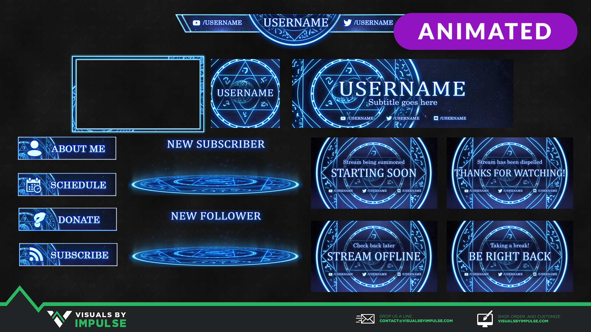 Astral Arcane Animated Stream Package - Visuals by Impulse