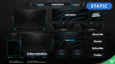 Azure Glow Stream Package - Visuals by Impulse
