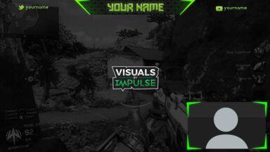 Green Twitch Overlay - Visuals by Impulse