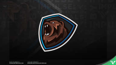 Grizzly Bear Mascot Logo - Visuals by Impulse