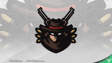 Gunslinger Mascot Logo - Visuals by Impulse