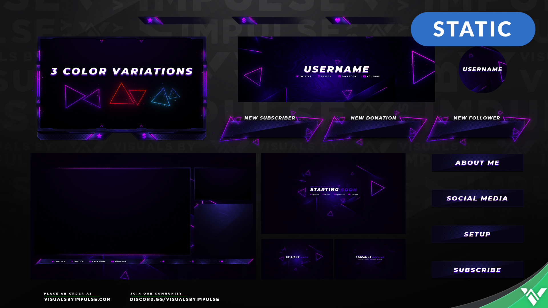 Kinetic Stream Package - Visuals by Impulse