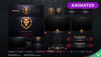 Lion Stream Package - Visuals by Impulse