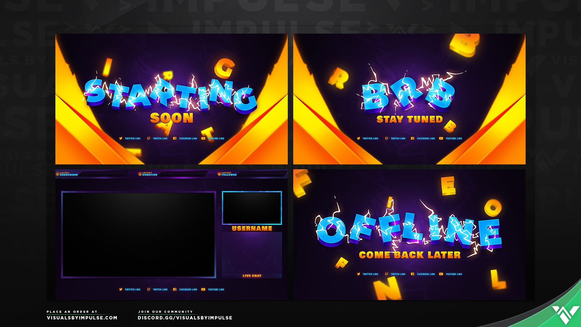 Mad Shock Stream Package - Visuals by Impulse