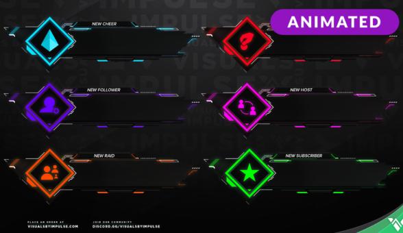 Nanotech Animated Stream Alerts - Visuals by Impulse