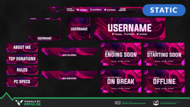 Neon Rider Stream Package - Visuals by Impulse
