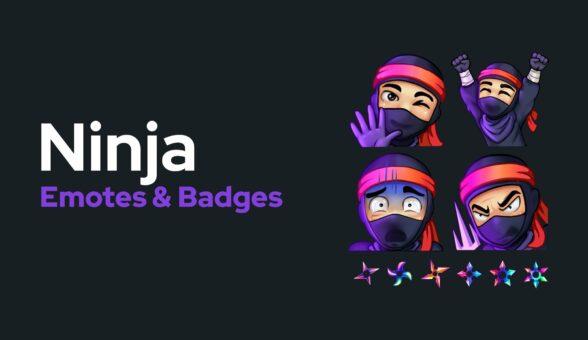 Ninja Theme Emotes Badges