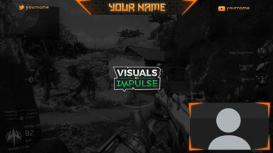 Orange Twitch Overlay - Visuals by Impulse
