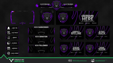 Purple Panther Diamond Stream Package - Visuals by Impulse