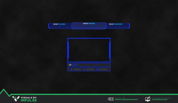 Race Blue Stream Overlay - Visuals by Impulse