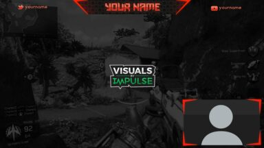 Red Twitch Overlay - Visuals by Impulse